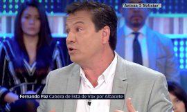 Fernando Paz (Vox) «Una pareja gay con un niño no es una familia natural».