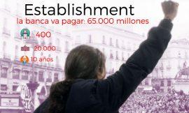 Pablo Iglesias empieza la campaña con la Banca, el verdadero rival a abatir