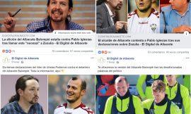 Un periódico de Albacete descalifica a Pablo Iglesias.