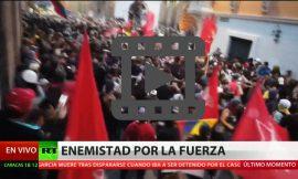 La Policía ecuatoriana comandada por Lenín Moreno dispersa manifestantes a favor de Julian Assange violentamente