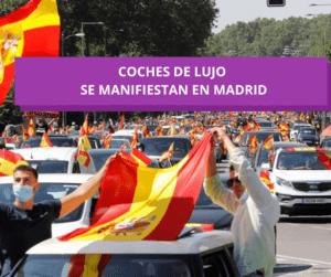 Coches de lujo se manifiestan en Madrid