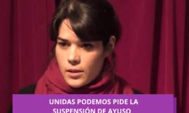 Podemos denuncia a Díaz Ayuso