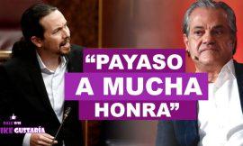 """""""Payaso a mucha honra"""": Pablo Iglesias respondió directo a Marcos de Quinto"""