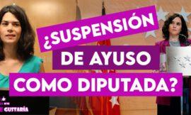 """Podemos pide suspender a Ayuso como Diputada por aceptar """"regalo"""" del apartahotel"""