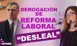 """Gorrotxategi critica a PNV por considerar """"desleal"""" la derogación de la reforma laboral"""