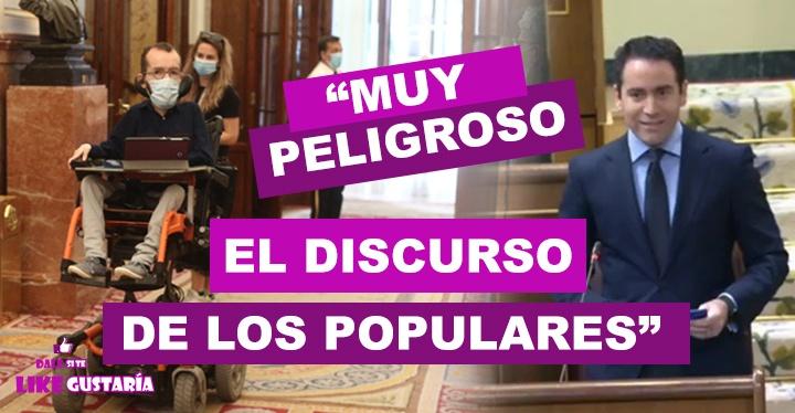 """Pablo Echenique calificó de """"peligroso"""" el discurso de Egea: """"A un centímetro de pedir la insurrección"""""""