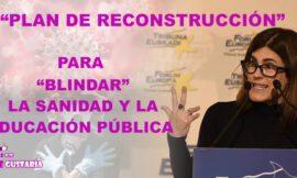 """Gorrotxategi presentó plan de reconstrucción con """"tasa Covid"""" para blindar la sanidad y la educación pública"""
