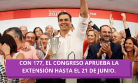 Ante la venenosa mirada de VOX y PP, Sánchez logra la última prórroga del Estado de Alarma