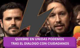Quiebre en Unidas Podemos tras el dialogo con Ciudadanos