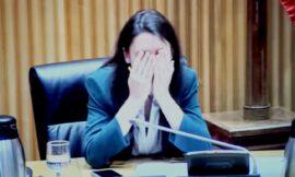 Irene Montero desesperada ante el argumento cavernícola de Vox.