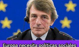 El presidente del Parlamento Europeo pone a España como ejemplo por el ingreso mínimo vital.