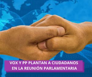 """PP y VOX se dan la """"derecha"""""""
