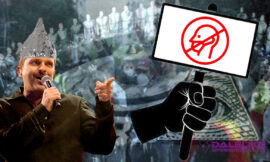 Miguel Bosé, uno de los cabecillas de la manifestación contra el uso de la mascarilla.