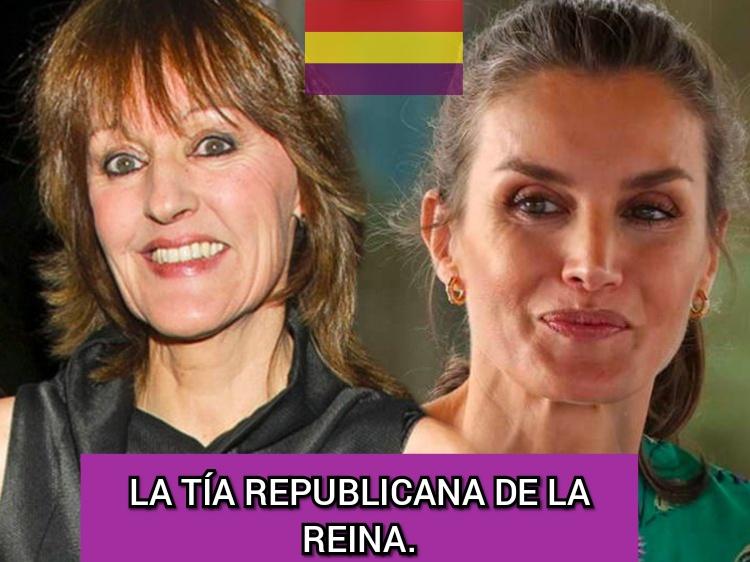 La tía republicana de la reina Letizia promueve un manifiesto contra la monarquía.