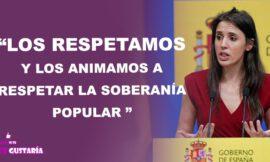 Irene Montero señala a Ciudadanos por reunirse solo con el PSOE y no con el Gobierno de Coalición