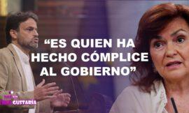 """Podemos señala a Carmen Calvo por """"hacer cómplice al Gobierno"""" en la operación de Juan Carlos I"""