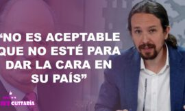 """Pablo Iglesias respecto a Juan Carlos I: """"No es aceptable que no esté para dar la cara en su país"""""""