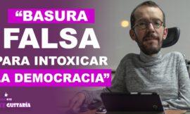 Pablo Echenique señaló a El Mundo de pretender intoxicar la democracia