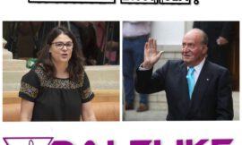 La consejera de igualdad de Podemos en La Rioja pide que el rey Juan Carlos sea despojado de su título y se le investigue en España.