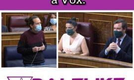 Pablo Iglesias da un repaso dialéctico a Vox a costa de la corrupción.