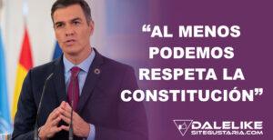 """Sánchez al PP: """"Al menos Podemos respeta la Constitución, ustedes no. Abandonen el bloqueo"""""""