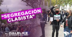Protestas y rechazo social ha generado la segregación clasista de Ayuso y Aguado
