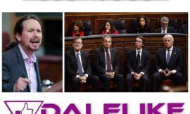 Pablo Iglesias expresa su malestar por el apoyo de los expresidentes a Martin Villa.