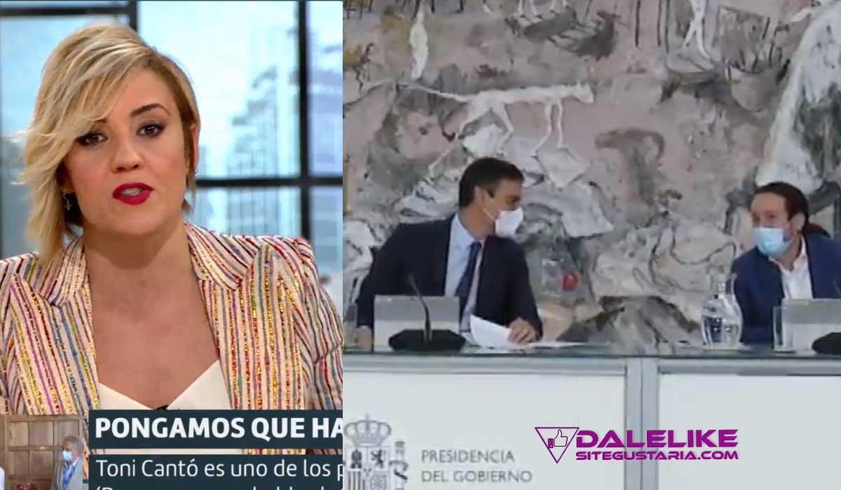 Cristina Pardo vuelve a blanquear a la derecha callando ante los insultos y acusaciones a Pablo Iglesias y Pedro Sánchez.