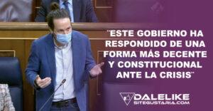 Pablo Iglesias quita las caretas a aliados de la derecha en pleno Congreso