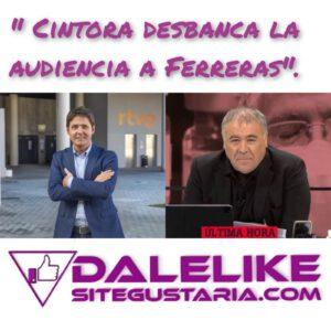 Jesús Cintora se estrena en Televisión Española desbancando la audiencia de Ferreras.