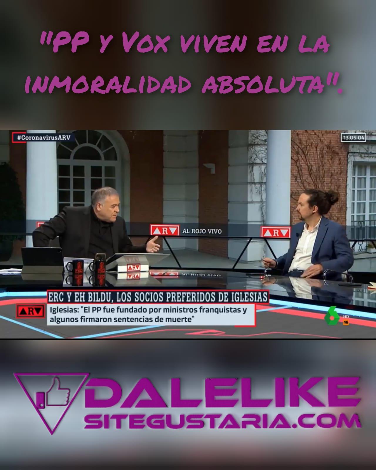Pablo Iglesias: «El apoyo de Bildu es la mejor noticia para la democracia española».