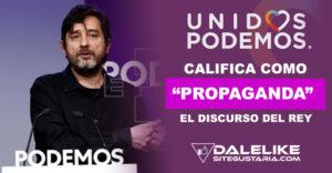 """Unidas Podemos criticó que el Rey Felipe VI no haya dicho nada concreto acerca de """"las acciones corruptas"""" de Juan Carlos I"""