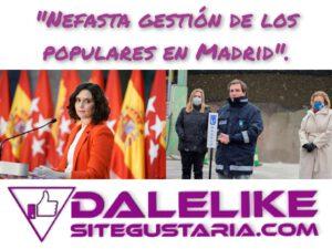 Ayuso y Almeida congelan Madrid y dejan al descubierto su nefasta gestión.