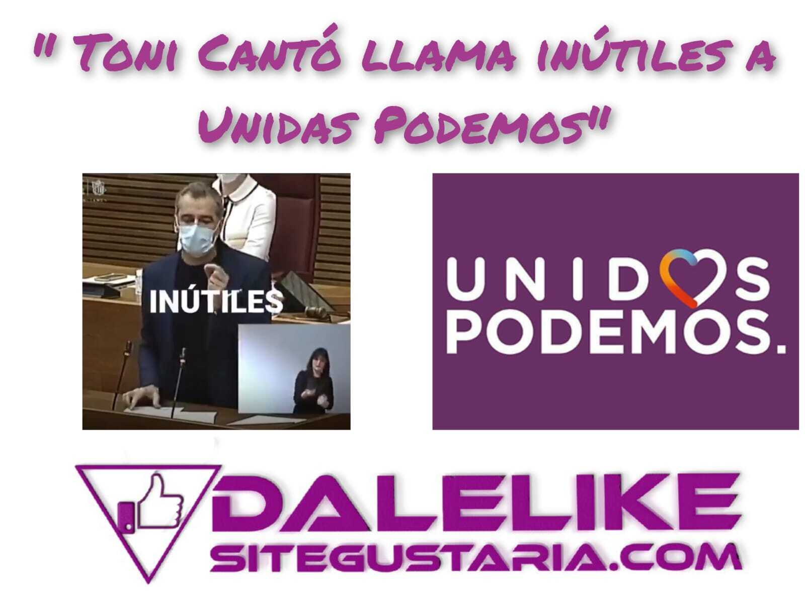 Toni Cantó vuelve a llamar «inútiles» a Podemos y las redes estallan.