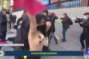 Largas colas, Pablo Iglesias y protestas de Femen: Así se vive la jornada electoral del 4M